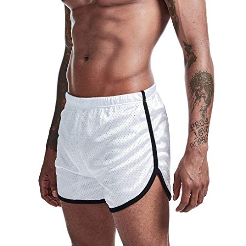 AIMPACT Mens Booty Running Athletic Shorts Marathon 3 inch Mesh Breathing Sexy Casual Lounge Short Swim Trunks for Men - - Medium