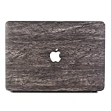 Tip-top PU Leather Logo See Through Hard Case Wood Grain Protective Skin Cover Shell for MacBook 12 Inch with Retina Display A1534 [2017/2016 / 2015 Release] (Wood Grain6)