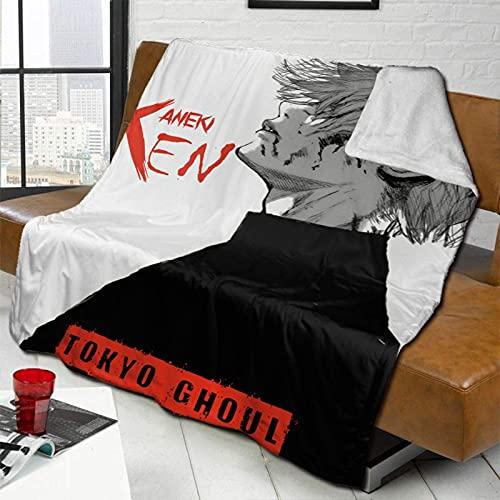 Manta de forro polar Tokyo Ghoul-Kaneki Ken suave y cálida manta ultra suave de felpa sofá cama 200 x 60 pulgadas
