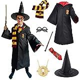 Costume Harry le Sorcier pour enfants, l'ensemble comprend : baguette, chapeau, lunettes,...