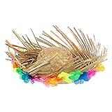 STOBOK Luau Hawaiano Sombrero De Paja Beachcomber Sombrero Divertido De Fiesta Sombreros De Los Cultivadores Sombrero para El Verano De Cinco De Mayo Taco Party Suministros De Disfraces