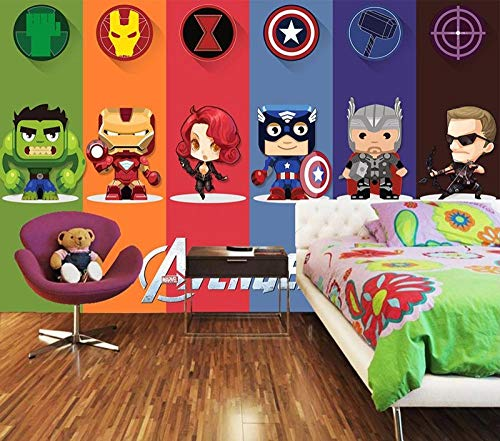 3D Wallpaper Badge Fototapete Cartoon Boy Kids Schlafzimmer Tapete @ 350 * 245cm