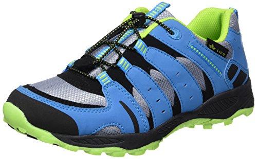 Lico Fremont, Chaussures de Randonnée Basses Mixte, Gris (Grau/Blau/Lemon Grau), 38 EU
