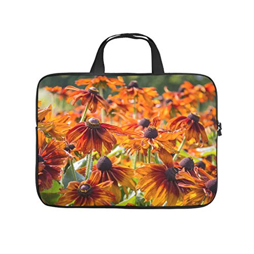 Natural Flower Autumn Daisy Flower Plant Printed Laptop Bag Protective Case Waterproof Neoprene Laptop Bag Case Cover Fashion Laptop Bag for Students