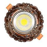 Vinteen 3 Watt / 5 Watt / 7 Watt Antike Geschnitzte LED Downlight Einbau Aluminium Kommerziellen Dekor Zeigen COB Scheinwerfer Retro Decken Panel Licht Eingebettet Montiert Spot Lampen for Wohnzimmer