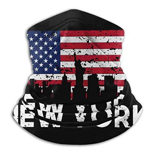 Face Mask New York City American Flag Mouth Cover Balaclava Headwear for Dust Wind Sun Protection Neck Warmer Headband Mask