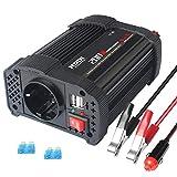 NDDI - Inverter per auto, 200 W, DC 12 V fino a 230 V AC, con caricatore auto Dual USB e 1 AC Outlet Power Inverter per auto