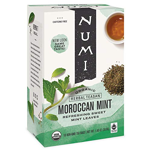Numi Organic Tea Moroccan Mint, 18 ct