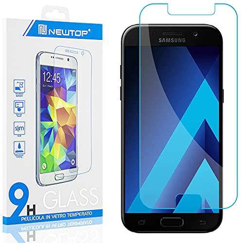 N NEWTOP [1 Pezzo] Pellicola GLASS FILM Compatibile per Samsung Galaxy A5 2017, Fina 0.3mm Durezza 9H in Vetro Temperato Proteggi Schermo Display Protettiva Anti Urto Graffio Protezione