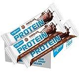 Barritas de proteicas (bar protein) de 60gr. Pack de 24 (24x60gr.) sustitutivas comida, ideal para alimentación deportiva, bajas en azúcar, sin gluten. MaxSport