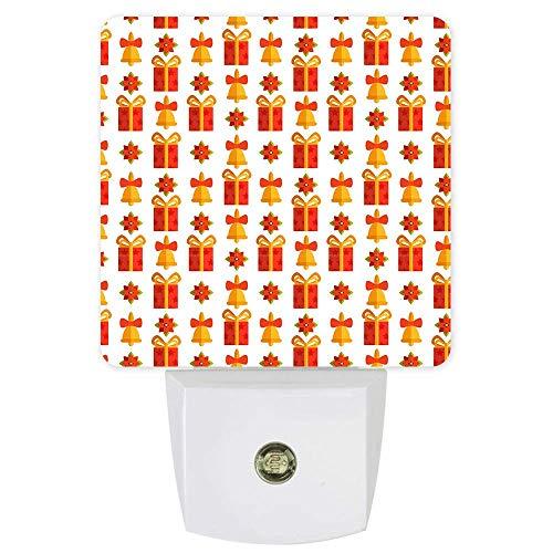 Luz De Noche Led Enchufable: Caja De Regalos De Navidad, Lámpara De Noche Con Sensor Inteligente De Anochecer A Amanecer Para Dormitorio, Habitación De Niños, Pasillo De Guardería