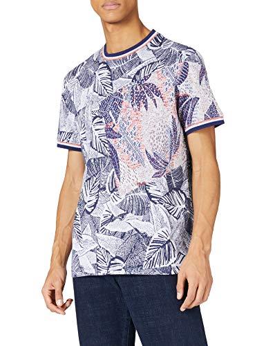 Desigual TS_CADMO Camiseta, Blue, L para Hombre