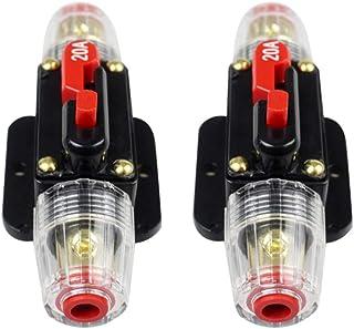JK-2 Bloc de fusible de disjoncteur en Ligne Audio de Voiture de CC 12V-24V pour la Protection de syst/ème dinverseur Solaire Audio Automatique de Bateau