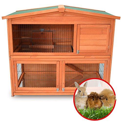 Zooprimus Kaninchenstall 21 Hasenkäfig – HASENHAUS-XL – Stall für Außenbereich (GRÖßE: (XL) | für Kleintiere: Hasen, Kaninchen, Meerschweinchen usw.) - 7
