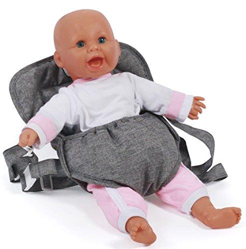 Bayer Chic 2000 782 76 Puppen-Tragegurt, Puppentrage, Jeans grau