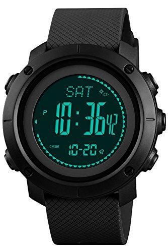 Digital Watch Military Tactical Sports Compass Pedometer Alarm Altimeter...
