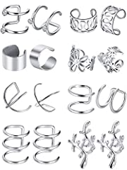 Delicate ear cuffs: the ear cuffs are in trendy and classic design, simple but elegant, you can wear them individually, side by side or any way you like, make you impressive and attractive 8 Various styles: the ear cuffs are available in 8 different ...