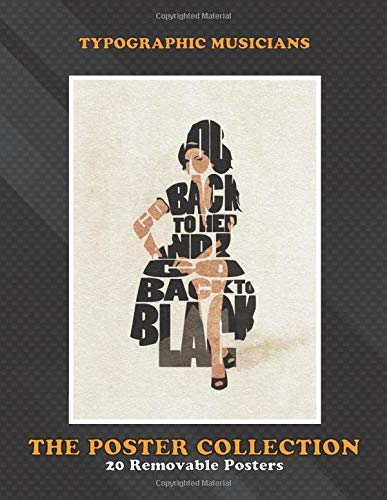Poster Collection: Typographic Musicians Amy Winehouse Typographic And Minimalist Art Celebrities
