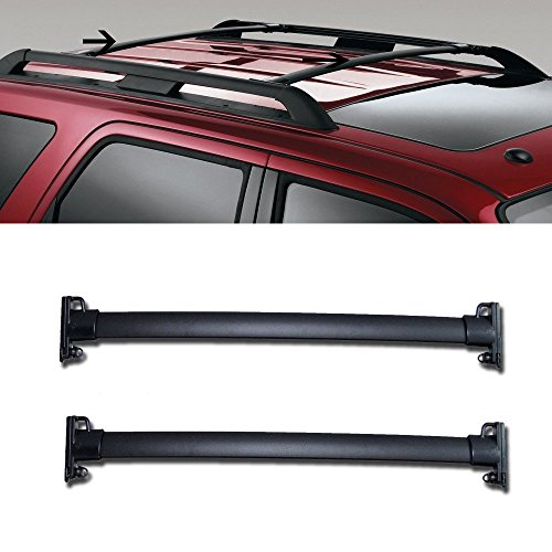 "MGPRO 1 Pair Black Aluminum 33.35"" Mount Onto the Rooftop Roof Rack Cross Bars Top Rail Carries Luggage Carrier For 08-12 Ford Escape"