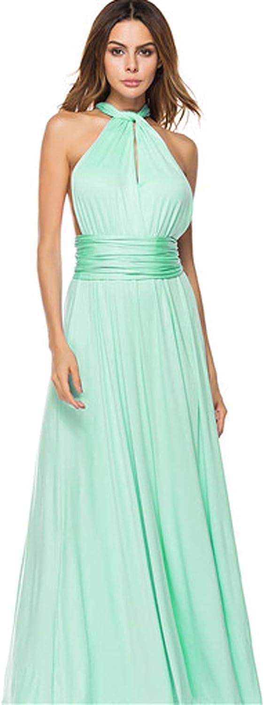 Misaky 2021 New Party Dress for Women Multi-rope Cross Halter Sexy Bandage Dress Long Skirt Dress