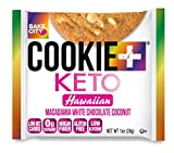Bake City Cookie Plus Keto   1oz Hawaiian Cookies (12 pack), Gluten Free, 0g Sugar, Only 1.5g Net Carbs, Good Fats, 5g Protein, Kosher, No Artificial Flavors