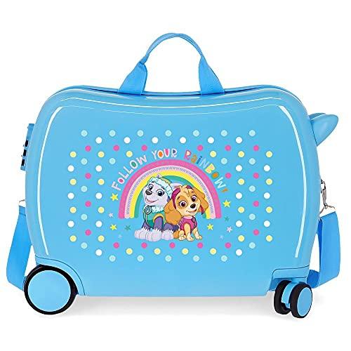 Patrulla Canina Paw Patrol Follow Your Rainbow Maleta Infantil Azul 50x38x20 cms Rígida ABS Cierre de combinación Lateral 34 1,8 kgs 4 Ruedas Equipaje de Mano