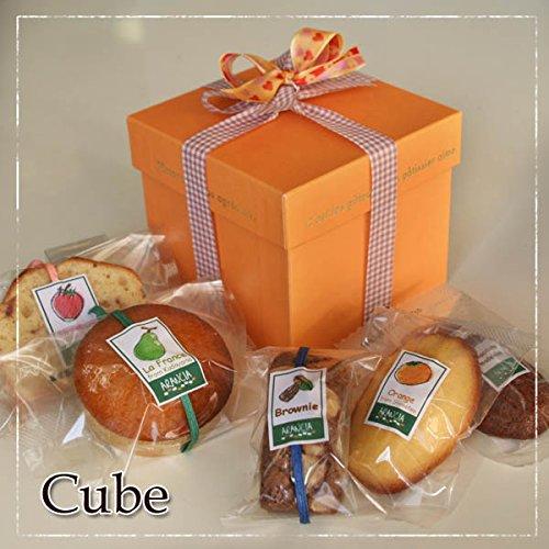 オレンジキューブ(チョコレートの焼き菓子と和歌山産フルーツの焼き菓子計5個inキューブボックス)