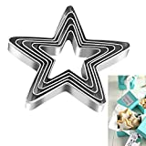 Tmflexe Stars Cookie Cutter, Pack of 5