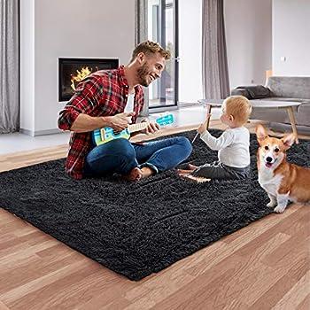 Qumig Ultra Soft Shag 4x5.3 Feet Luxury Area Rug