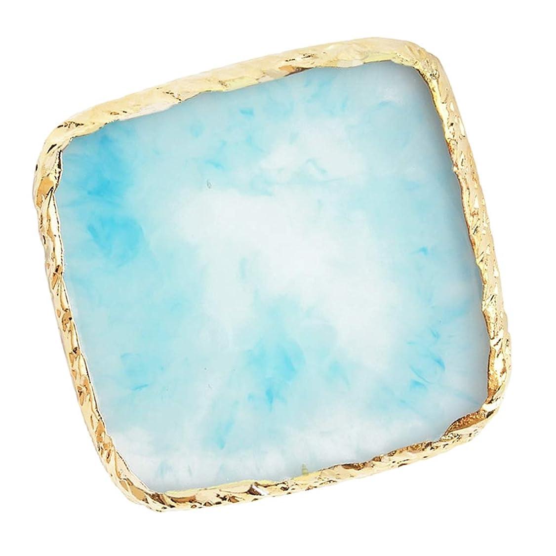 ローマ人論理的フライトCUTICATE ネイルアート カラーブレンド ミキシングパレット 樹脂製 耐久性 清掃しやすい 6色選べ - 青