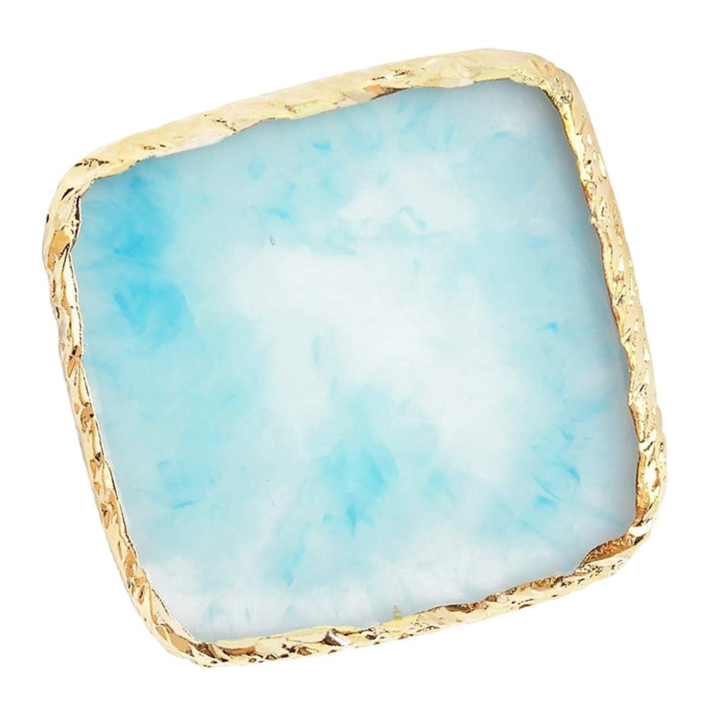 溝儀式インフラCUTICATE ネイルアート カラーブレンド ミキシングパレット 樹脂製 耐久性 清掃しやすい 6色選べ - 青