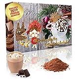 C&T Adventskalender 2019 Trinkschokolade (No3) NEU - 24 aufregende italienische Kakao-pulver - 'Märchenhafte Trinkschokolade' in 24 verschiedenen Sorten mit Verfeinerungstipps -...