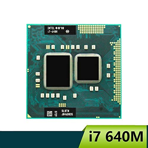 DINGZH-HANGZH El Procesador Intel Core I7 640m SLBTN Dual Core 2.8GHz L3 4M CPU Funciona En HM55 (Color : A)