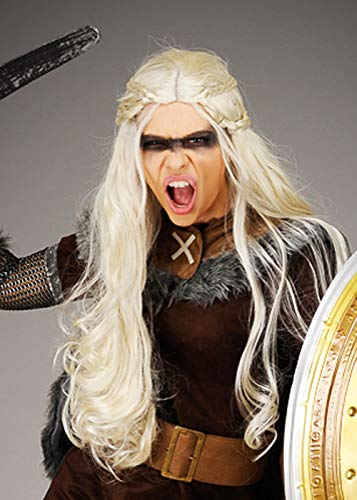Magic Box Womens Lagertha Style Long Blonde Viking Wig: Amazon.es ...