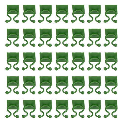 Cabilock 100 Piezas de Suspensión de Plantas de Pared Clips Adhesivas de Soporte de Plantas Vegetales de Jardín Clip de Encuadernación Gancho Adhesivo de Pared Vides Clip de Fijación