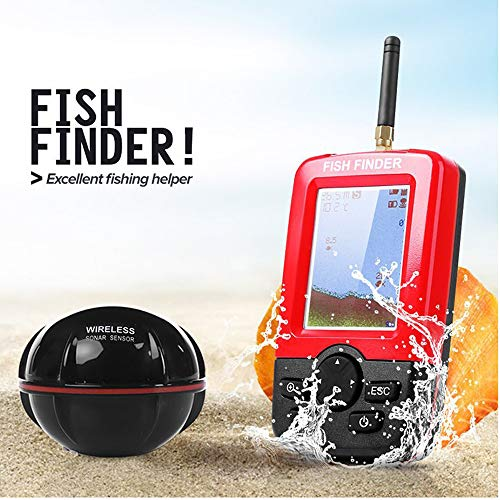 Hyuhome Buscador de los Pescados portátil para Kayaks de Mano de Hielo Accesorios de Pesca Artes de Pesca Sonar transductor del Sensor de Barco de Pesca Pesca en mar