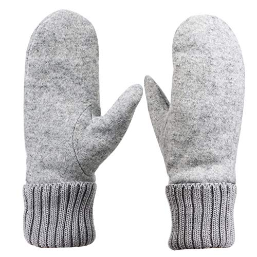 Damenhandschuhe Winter Fausthandschuhe Damen Mädchen Winterhandschuhe Fäustlinge Handschuhe Gefüttert Warm Strickhandschuhe Weich Wollhandschuhe Dick Skihandschuhe für Outdoor Snowboard Fahrrad