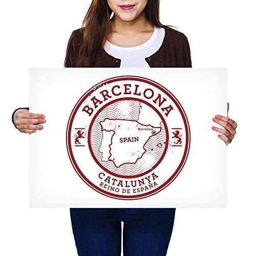 Destination Vinilo Posters A2 - Barcelona Catalunya España España Mapa Art Print...