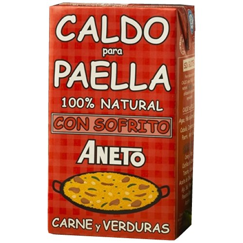 Aneto Caldo Para Paella - Brühe Für Paella Mit Fleisch Und Gemüse, 1er Pack (1 x 1 l)