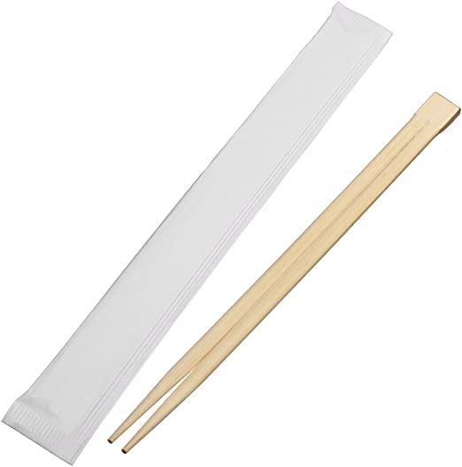 200pcs Total Freeby Disposable Bamboo Chopsticks Smooth Splinter Free Disposable Chopsticks Paper Sleeve 1Packs of 100 Pairs