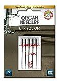 ORGAN NEEDLES Órgano Agujas # 80/12de ELX 705Serger Agujas de x 5