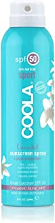 COOLA Organic Sunscreen & Sunblock Spray, Skin Care for Daily Protection, Broad Spectrum SPF 50, Reef Safe, Fragrance Free
