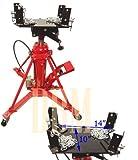 Manual/Air 1 Ton Hydraulic Transmission Jack Lift Telescopic 2 Stage 2000 LB Cap