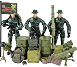 Click N Play Military Ranger Action Figure 18 Piece Accessory Play Set.