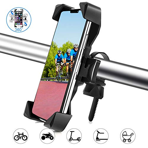 Fantastic Prices! Motorcycle & Bike Phone Mount Holder - Anti-Shake Universal 360° Adjustable Bicyc...