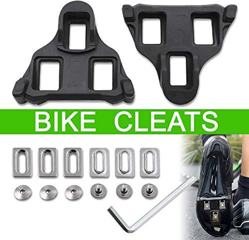 MMBOX Rennrad-Stollen, selbstsichernde Fahrradpedale, bequeme Stollen für Shimano SPD System Schuhe Float für Rennrad Indoor Spin Fahrradschuhe 6 Grad (schwarz, Shimano SPD)