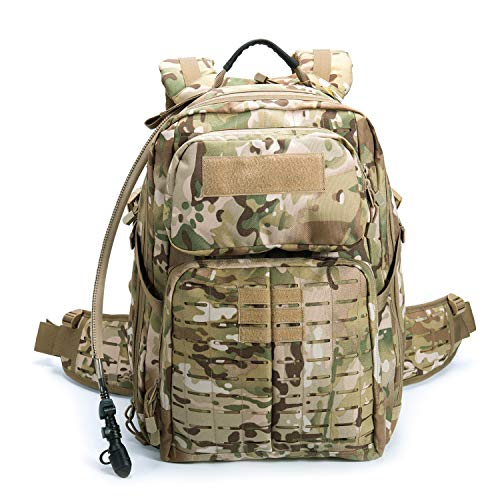 MT Military Tactical Pack,24 Hours Molle Rucksack,Adventure Backpack,Bug Out Bag Multicam