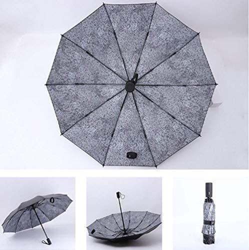 LXH-Rain Gear Supplies Paraguas Paraguas Paraguas Plegable Reversible automático 10 Huesos Paraguas a Prueba de Viento Compacto y Ligero y Conveniente Negocios, Viajes, campamentos Paraguas