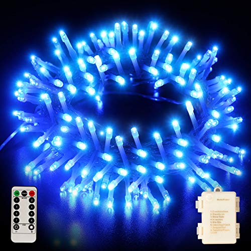 [Remote Control] Fairy String Lights Battery Operated, 33FT 100 LED Christmas Lights IP65 Waterproof with Timer, Memory Function and 8 Lighting Modes for Indoor Outdoor Xmas Halloween Wedding Bedroom