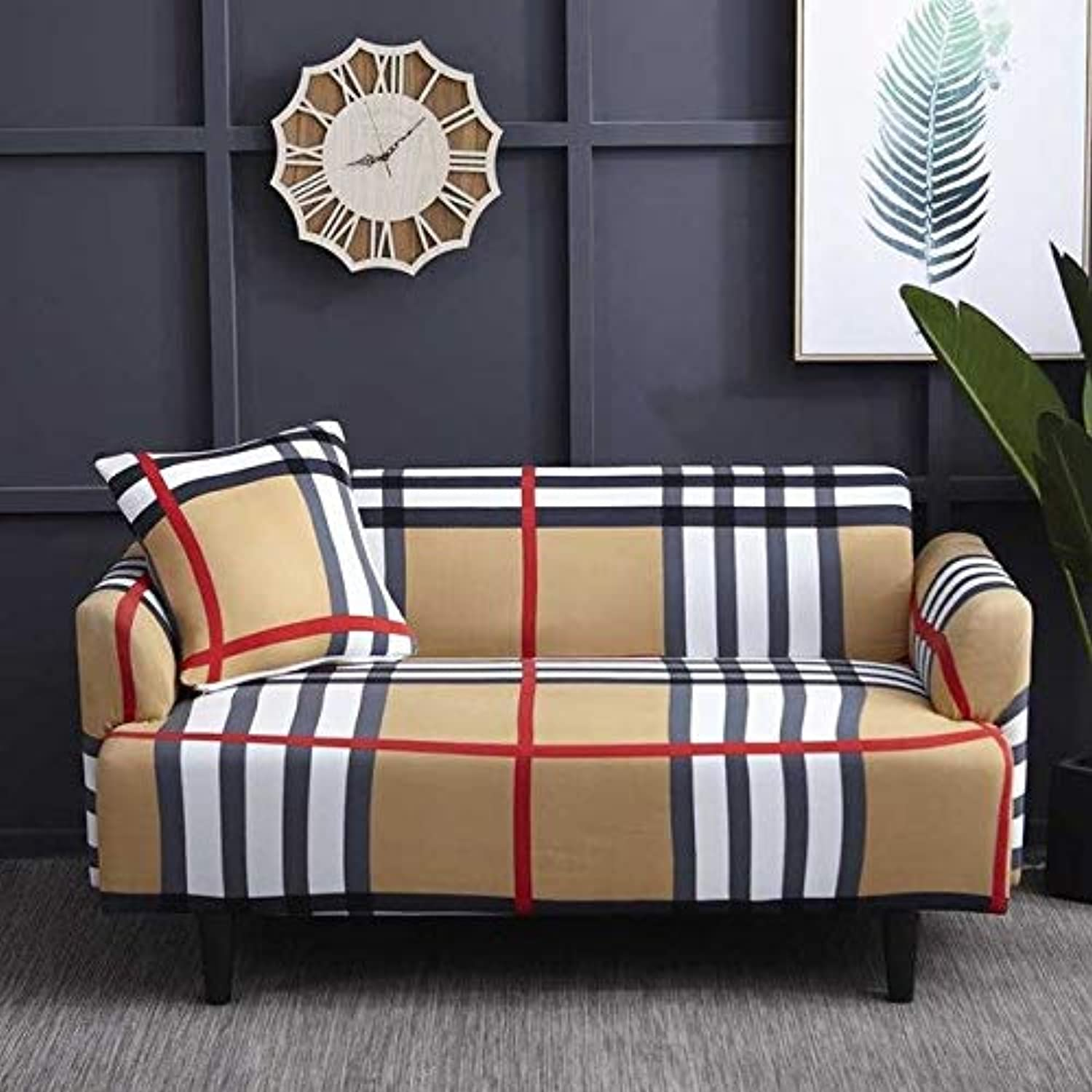 Zoomy far Zebra color Lig Room Sofa Cover Slipcover Elastic Congreen Cover Tight All-Inclusive 1 2 3 4-Seat Single Two Three Four-Seater   2, Two seat